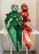 """""""HARLEKINS"""", grün und lachsrosa,  Größe: 90 cm"""