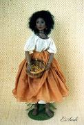 """""""NAIMA""""  (14 Gelenke),  Größe: 45 cm, Haare: Mohair,  Einzelstück aus Vario-Serie"""