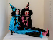 """CLOWNS"",  blue and pink, Size: 39,37 inch"