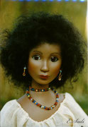 """NAIMA""  (14 joints),  Size: 17,72 inch,  Hair: Mohair,  Individual piece from Vario-Series"
