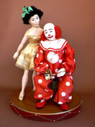 """CIRCUS"",  One-of-a-kind  from  casting-mass,  Size: H 22,83 inch"