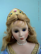 """SLEEPING BEAUTY"",  One-of-a-kind,  Size: 23,62 inch, Hair: Human hair"