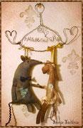 """Сувенир в честь новоселья, сделанный для друзей, с личным подтекстом - у мужа """"прозвище"""" Мышь, а жену все зовут Конни, так уж вышло, и вещица получилась сама собой) Вешается на стену, и привносит в дом позитивную энергию, а также аромат кофе и корицы))"""