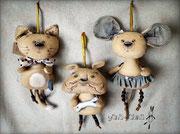 Пряничные зверики для одной маленькой девочки - по ее же эскизам!)