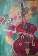 Die Cellospielerin 70x100