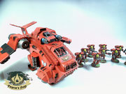 Stormraven Gunship  Blood Angels Assault Squad