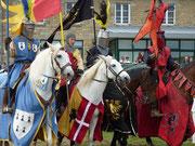 l'arrivée des chevaliers