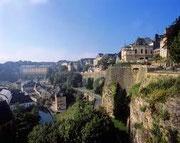La vallée de la Pétrusse à Luxembourg-ville
