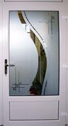 Verglasung mit Sandstrahldecor und made with CRYSTALLIZED - Swarovski-Elements