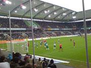 Bastian Reinhardt erzielt das Tor per Kopf - gutes Timing!!!