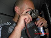 Die Rostocker Kamera wird noch mit Benzin betriben.