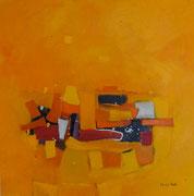 Oasis, 90 x 90 cm, Acryl