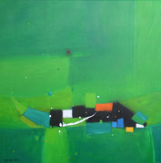 Hole in one, 80 x 80 cm, Acryl   •    VERKAUFT