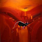 Arizona Sunset, 130 x 130 cm, Acryl