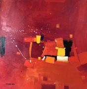 Indian Sky, 80 x 80 cm, Acryl   •   CHF 3 200.--