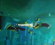 Blue Lagune, 100 x 80 cm, Acryl