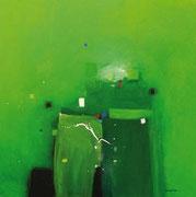 Infinity in Green, 100 x 100 cm, Acryl