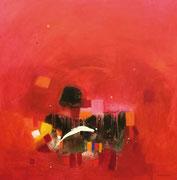 Emotion in Red, 100 x 100 cm, Acryl