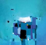 Ice Cubes II, 100 x 100 cm, Acryl