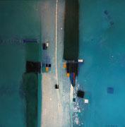 Sunset Street, 100 x 100 cm, Acryl