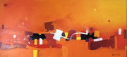Oasis in Orange, 130 x 60 cm, Acryl   •   CHF 3 600.--