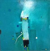 Topaz, 100 x 100 cm, Acryl