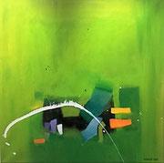 Harmony in Balance, 80 x 80 cm, Acryl