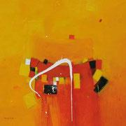 Dancing Water, 90 x 90 cm, Acryl