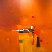 Amber Light, 80 x 80 cm, Acryl