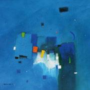 Blue Moon, 80 x 80 cm, Acryl