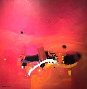 Sunset in Las Vegas, 80 x 80 cm, Acryl   •    VERKAUFT