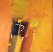 Tangerine Grove, 70 x 70 cm, Acryl