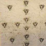 UNMETROPERUNMETRO 100 X 100 cm. tessuto dipinto 2010 EMANUELA BEVILACQUA