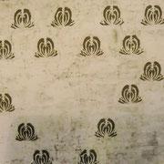 UNMETROPERUNMETRO 100 X 100 cm. tessuto dipinto 2010 DENISE SCIABICA