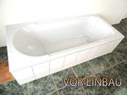 Badewanne vor Einbau