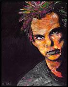 Denis Lavant (acrylique sur toile, 35x27cm)