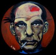 Denis Lavant, acrylique sur toile (40cm)