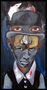 "Tom Waits ""Black wings"", acrylique sur toile (60cm x 30cm)"