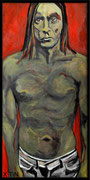 """""""Iguane"""", Iggy Pop, acrylique sur toile (60cm x 30cm)"""