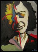 Edith Piaf, acrylique sur toile (40cm x 30cm)