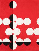 Ellen Roß: Quadratur des Kreises n°19, 2015, Vinyl auf Aquarellkarton, 41 x 31 cm