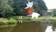 Dragon au dessus de l'étang