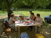 Comme dans Astérix, tout se termine toujours par un banquet!
