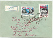 CCCP, Wostok 4 cosmonaut Pawel Popowitsch  orig.sigend on cover (via avion) with 4295 and 4296