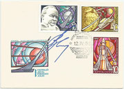 CCCP, Sojus 3 FDC orig signed by Sevastyanow (Sojus 9 and 18) with set 3605/07, dated 12.04.1969
