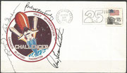 Launch cover STS-8 orig. signed by complete crew except Thornton