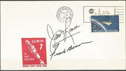 Gemini 7 launch cover dated 04.12.1965, KSC cachet, orig. signed by Lovell and Borman, cachet issued 7380 items