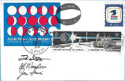 Apollo 15 Herrick MOON Phase cover issued 100 items, Cover was in Moonorbit during Apollo 15 mission