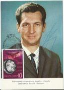 CCCP, Sojus 9 autogramcard orig. signed by  W.Sewastjanow with 3779,