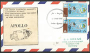 Qatar , mail send from Qatar to Germany with stamps 419 and 420,
